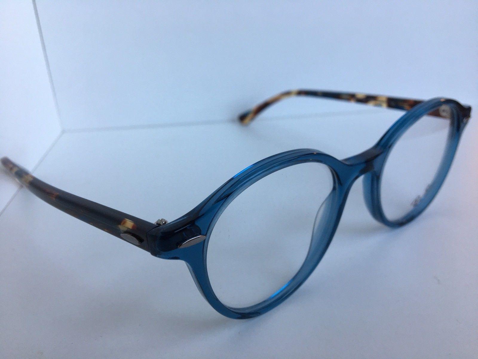 aefc390e43d ... New Ray-Ban RB 7118 RB7118 8022 48mm Rx Round Blue Havana Eyeglasses  Frames