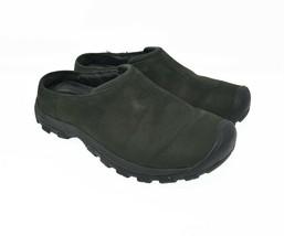 KEEN Women's Sz 8 EU 40.5 Green Leather Slip On Comfort Walking Flats - $39.99