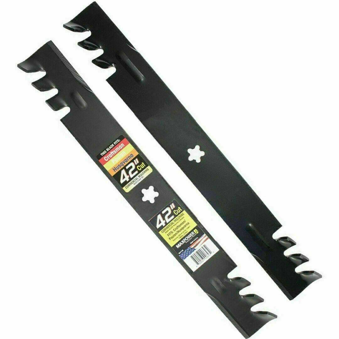 2 Mulching Blade For Poulan Husqvarna Craftsman 42 Inch LT1000 DYT 4000 Mower - $41.79