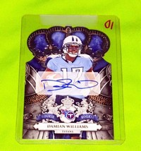 NFL DAMIAN WILLIAMS TITANS AUTOGRAPHED 2010 PANINI CROWN ROYAL ROOKIE /4... - $2.60
