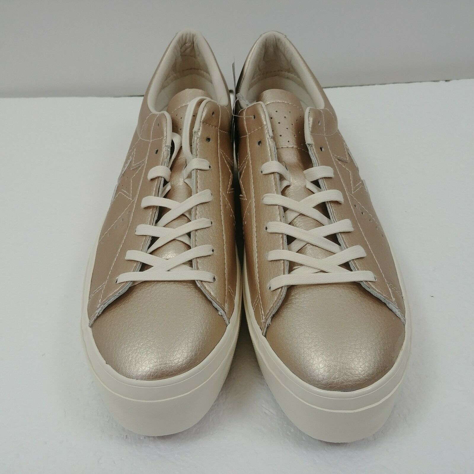 Converse One Star Platform Ox Low Top Shoes Gold 559924C Womens Size 10 NWT image 6
