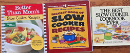 Slow Cooker Cookbooks Lot of 3 Better Homes & Gardens, HC By Natalie Hau... - $18.35