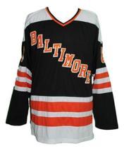 Custom Name # Baltimore Blades Retro Hockey Jersey Black Marshall #8 Any Size image 1