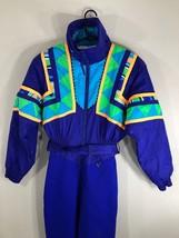 VTG Obermeyer Snow Suit Neon 80s 90s Winter Women's 10 Ski Jacket Coat P... - $119.99