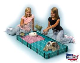 Guinea Pig Hamster Rat Bunny Rabbit Hedgehog Ferret Cage Pet Home Habita... - $70.33
