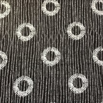 Lonni Rossi Black Circles Stripes Cotton Fabric 2+ Yards Andovers Patter... - $16.78