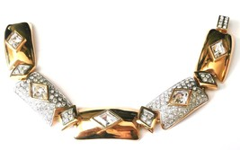 "Swarovski Crystal Elements Set Gold Plated Bracelet  7 3/4"" Long  (D) - $94.05"