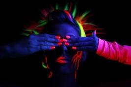 UV LIPSTICK RED, GREEN, BLUE, HOT PINK, YELLOW, ORANGE, PURPLE, NEON, RAVE - $6.34+