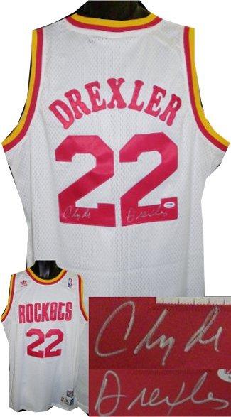 5c021c58dfa Clyde Drexler signed Houston Rockets White and 23 similar items. 14203