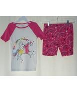 Girls Sams Club Dream Like A Unicorn Top & Shorts Pajamas Set Sz  6 7 - $8.95