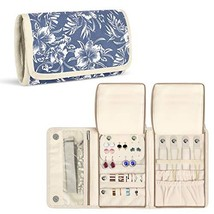 Teamoy Jewelry Roll, Jewelry Travel Organizer for Necklaces, Earrings, B... - $18.49