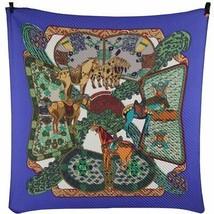 Authentic Hermes Paris Silk Pleated Art Des Steppes Scarf 1991 Anne Faivre - $331.65