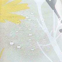 Mustard Yellow Grey Daisy 180 x 180 cm Shower Curtain Waterproof Shower Screen  image 5