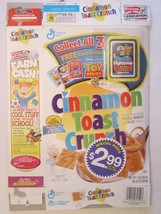 Cinnamon Toast Crunch Cereal Box 2000 Toy Story 2 Card Game Buzz Lightyear - $23.12
