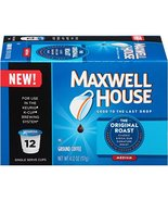 Maxwell House, K-Cup Single Serve Coffee, 12 Count, 3.7oz Box (Pack of 3... - $34.64