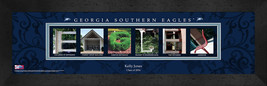 Personalized Georgia Southern Eagles Campus Letter Art Framed Print - $39.95
