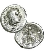 LIBER / Victory. Cato Ancient Roman Republican Silver Quinarius Coin Por... - $224.10