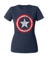 Official Marvel Comics Captain America Distressed Vintage Logo Shield Jr... - £12.99 GBP+