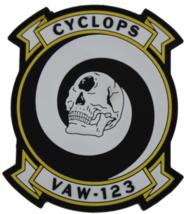 US Navy VAW-123 Cyclops PVC Patch - $15.83