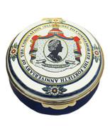 Crummles Enamels Queen Elizabeth II 40th Anniversary of Coronation (Blue... - $125.00