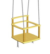Kids Rope Swing Chair Seat Indoor Outdoor Playground, Tree Wooden Hanging - $44.54