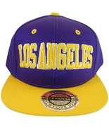 City Hunter Los Angeles Men's Adjustable Snapback Baseball Cap Purple/Gold - $9.95