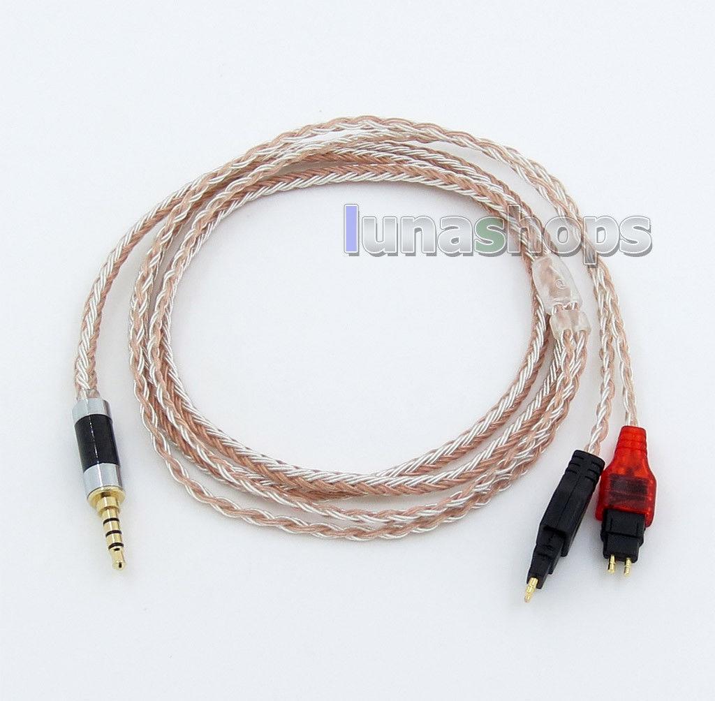 16 Core OCC Silver Mixed Earphone Cable For Sennheiser HD25 HD650 HD600 HD580 HD
