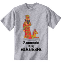 Annunaki King Madruk - New Cotton Grey Grey Tshirt - $23.73