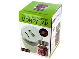 Bulk Buys OL448-3 Digital Coin Counter Money Jar 3 Piece - $45.37