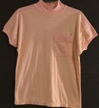 Pierre Cardin Rn 14254 - Peach/White Striped Pull-Over Top - Women: Medium - $11.63