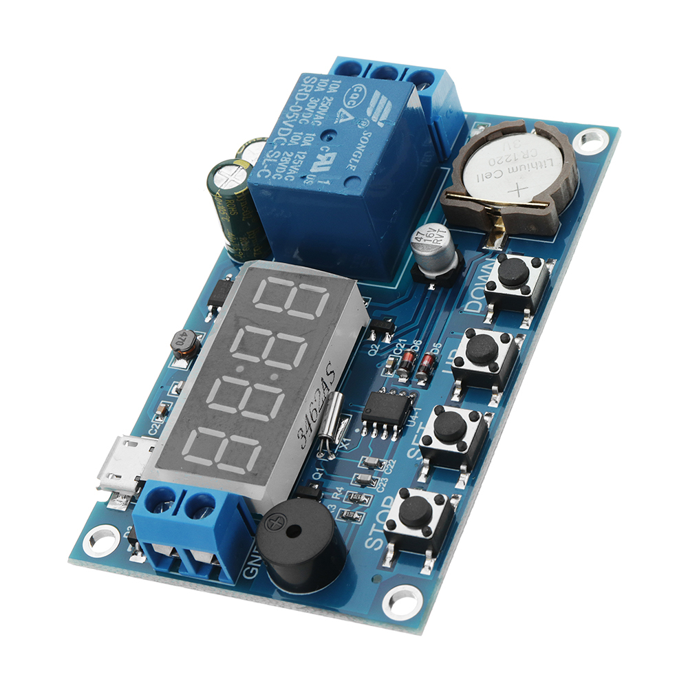 DC 5V To 60V Real-time Relay Module Clock Synchronization Timer Module Time Cont