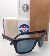 New VUARNET Polarized Sunglasses VL 0006 0009 Matte Black Frame / POLARLYNX Blue