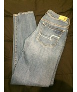 American Eagle Jeans Women's Size 6 Super Stretch Jeggings Blue - $10.50