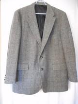 Vintage 1960s Woolrich Blazer Sport Coat Jacket Elbow Patches Grey Brown... - $64.34