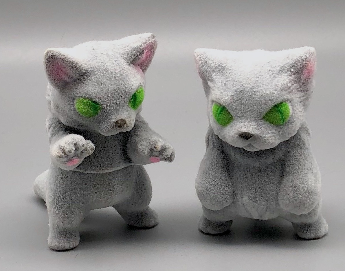 Max Toy Flocked Silvery-Gray Small Nekoron and Nyagira - Monster Boogie