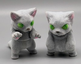 Max Toy Flocked Silvery-Gray Small Nekoron and Nyagira - Monster Boogie image 1