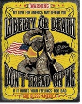 Don't Tread On Me Warning Military Guns Garage Bar Home Wall Decor Metal Sign - $9.99