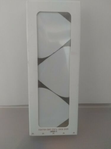 Wood White Heart Place Card Holders New Gift Set of 3 Table Party