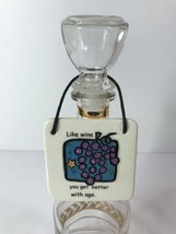 Carpe Vino Like Wine You Get Better With Age Small Hanging Tile OccaXions - $14.84