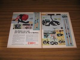 1970 Print Ad Garcia Abu-Matic & Mitchell Fishing Reels Conolon Rods - $13.96
