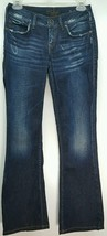 Silver Jeans Western Glove Works LAEL dark distressed denim bootcut SZ 2... - $15.39