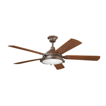 Kichler 310117TZP Hatteras bay patio Ceiling Fans 60in 4-light - $659.00