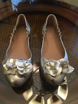 Tory Burch Metallic Gold Blossom Flats - $123.75