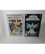 IRON MAN: #55 FIRST THANOS + #1, SPIDER-MAN , #600, IRON MANUAL - FREE S... - $23.38