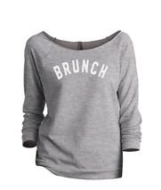 Thread Tank Brunch Women's Slouchy 3/4 Sleeves Raglan Sweatshirt Sport Grey - $24.99+