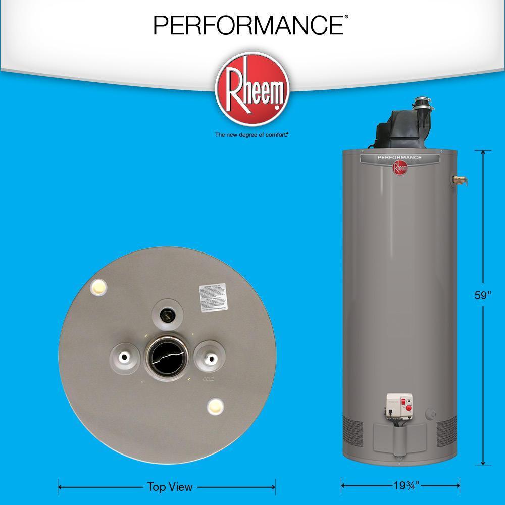 Rheem Propane Water Heater 40 Gal 36 000 Btu Pilot Light