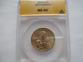 2000 P ,Sacagawea / Native American  Dollar , MS 65 , ANACS Certified ,L... - $65.00