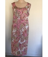Jones New York Signature Pink Paisley Sheath Dress Women's Size 16W - $25.00