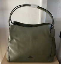 Coach 58052 Mixed Leather Edie Shoulder Bag - Surplus Green - $240.00