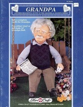 """Grandpa 13"""" Doll Outfit Fibre Craft Sewing Pattern Leaflet FCM343 HTF - $8.07"""